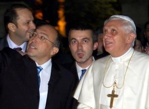 Serif Yenen with Pope Benedict