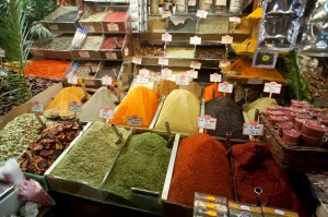 Spices in the Egyptian Bazaar